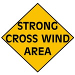 Cross Wind Traffic Sign T-shirts and Gifts