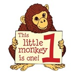 First Birthday Little Monkey Shirts