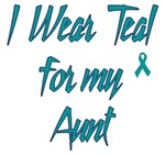 Ovarian Cancer Support Aunt Shirts