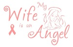 Breast Cancer Angel Wife T-shirts