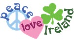 Peace Love Ireland T-shirts