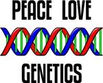 Peace Love Genetics T-shirts