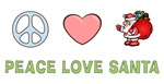 Peace Love Santa Shirts