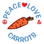 Peace Love Carrots T Shirts