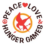 Peace Love Hunger Games Shirts