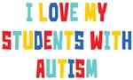 I Love My Students With Autism Shirts