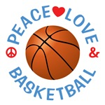 Peace Love Basketball Shirts