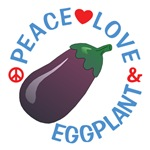 Peace Love Eggplant Shirts