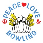 Peace Love Bowling Shirts