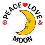 Peace Love Moon Shirts