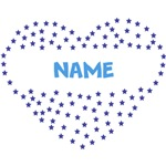 Blue Personalized Heart Name Shirts
