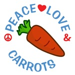 Peace Love Carrots Shirts