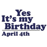April 4th Birthday T-Shirts & Gifts
