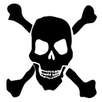 Evil Jolly Roger Halloween Skull T-Shirts & Gifts