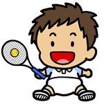 Baby Boy Tennis Player