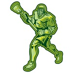Green Lacrosse Player