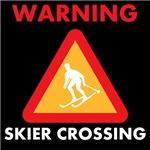 Warning Skier Crossing