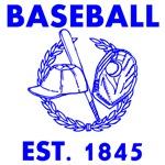 Baseball Est. 1845 Blue
