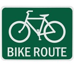 Bike Route Road Sign