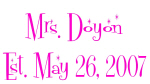 Mrs. Doyon
