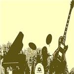 Yellow Pop Art Band