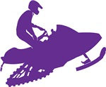 Snowmobiler in Purple