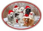 POODLE CHRISTMAS SCENE
