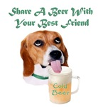  Beagle Drinking A Beer