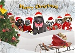Santa's Helpers Wish You Merry Christmas