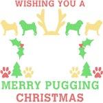 Merry Puggin Christmas Ugly Sweater Tee