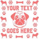 Pug Personalized Ugly Christmas