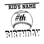 Baseball Birthday Personalized Classic