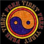 Free Tibet Faded Tibetan Yin Yang