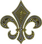 Fleur-de-lis Mosaic Gold