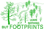 Leave Nothing but Footprints Hiking Green