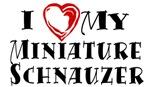 I Heart My Miniature Schnauzer