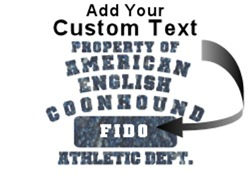 Personalized  American English Coonhound