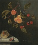 Antique Painting of Fruits and Nuts