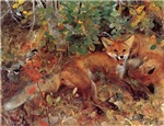 Painting of a Fox