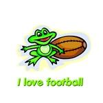 I love football (frog & football)