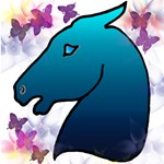 Blue Mustang Horse Gifts