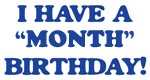 Month Birthday (blue)