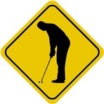 Golf Crossing Sign (Man)
