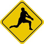 Volleyball Crossing Sign (Man)