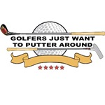 Golfers Putter Around