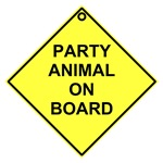 Party animal on board