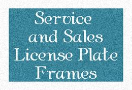 Service and Sales Occupation License Plate Frames