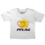 Click here!<br>PFLAG Logo Shirts for Babies & Kids