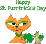 Happy St Purrtricks Day-Cat and Mouse