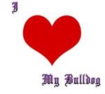 Love Bulldog Purple